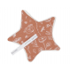 Doudou attache-sucette Wild Flowers Rust LD