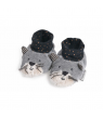 Chaussons chat gris clair Fernand, Les Moustaches, Moulin Roty
